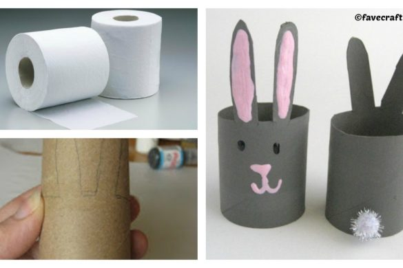 DIY Toilet Paper Roll Napkin Rings Tutorial