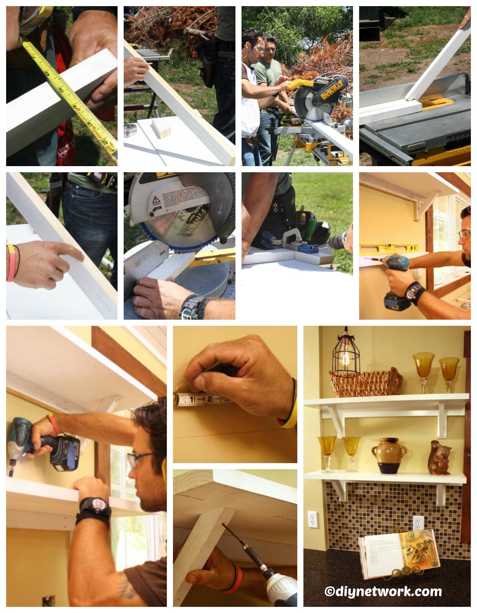 How to make Kitchen Shelves