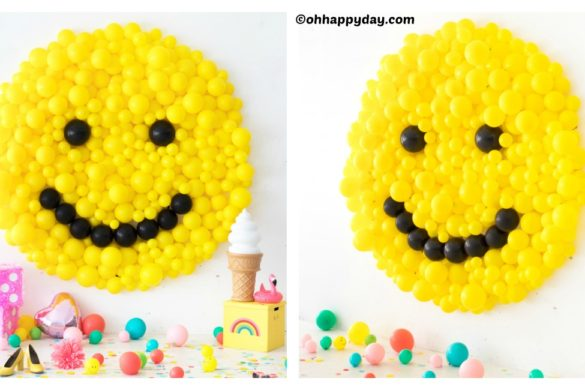 DIY Smiley Face Balloon Wall Art Tutorial