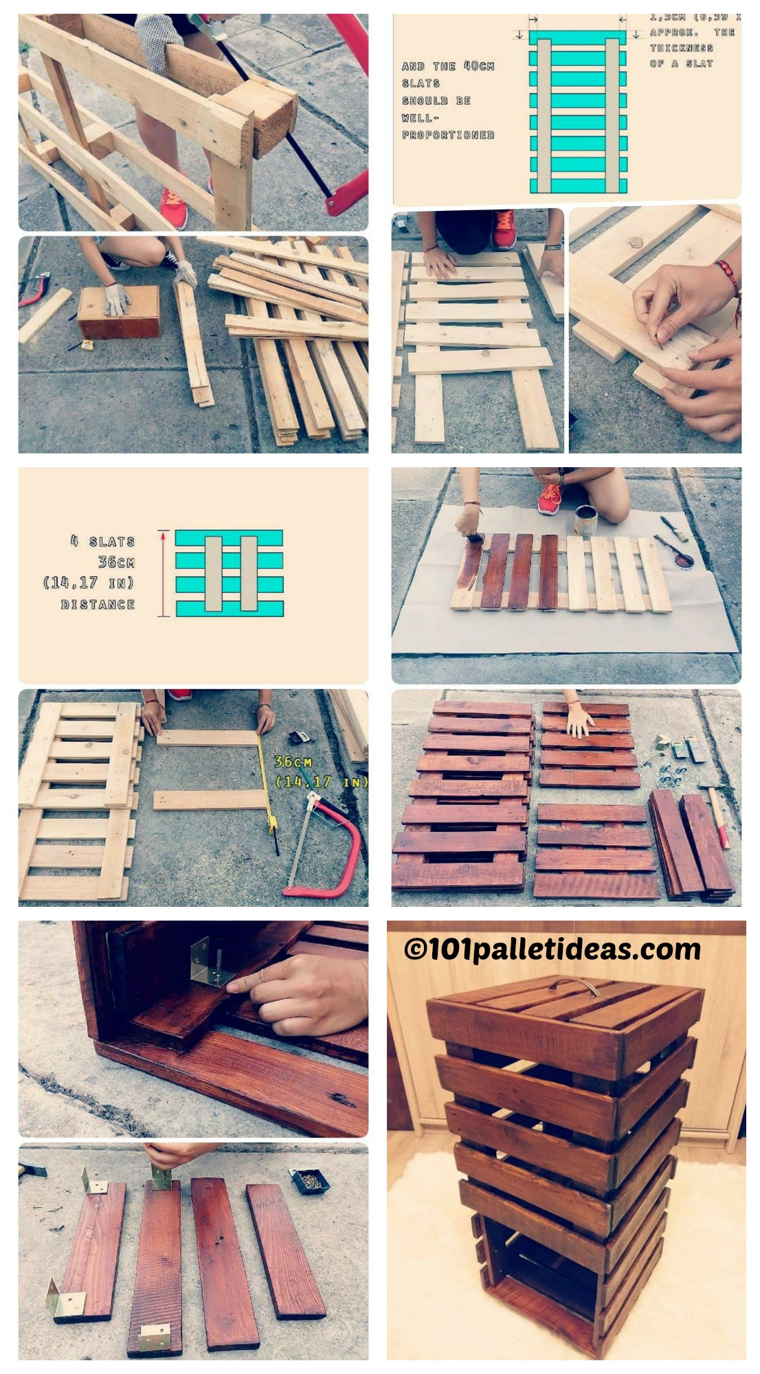 How to make a Pallet Bathroom Storage