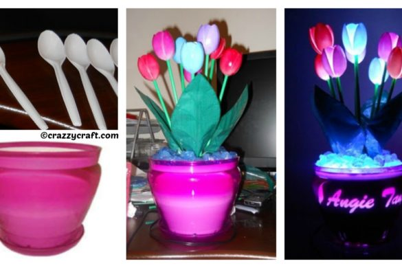 DIY Tulips of Spoons Lamp Tutorial