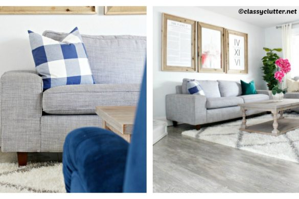 DIY Add Legs to IKEA Couch Tutorial