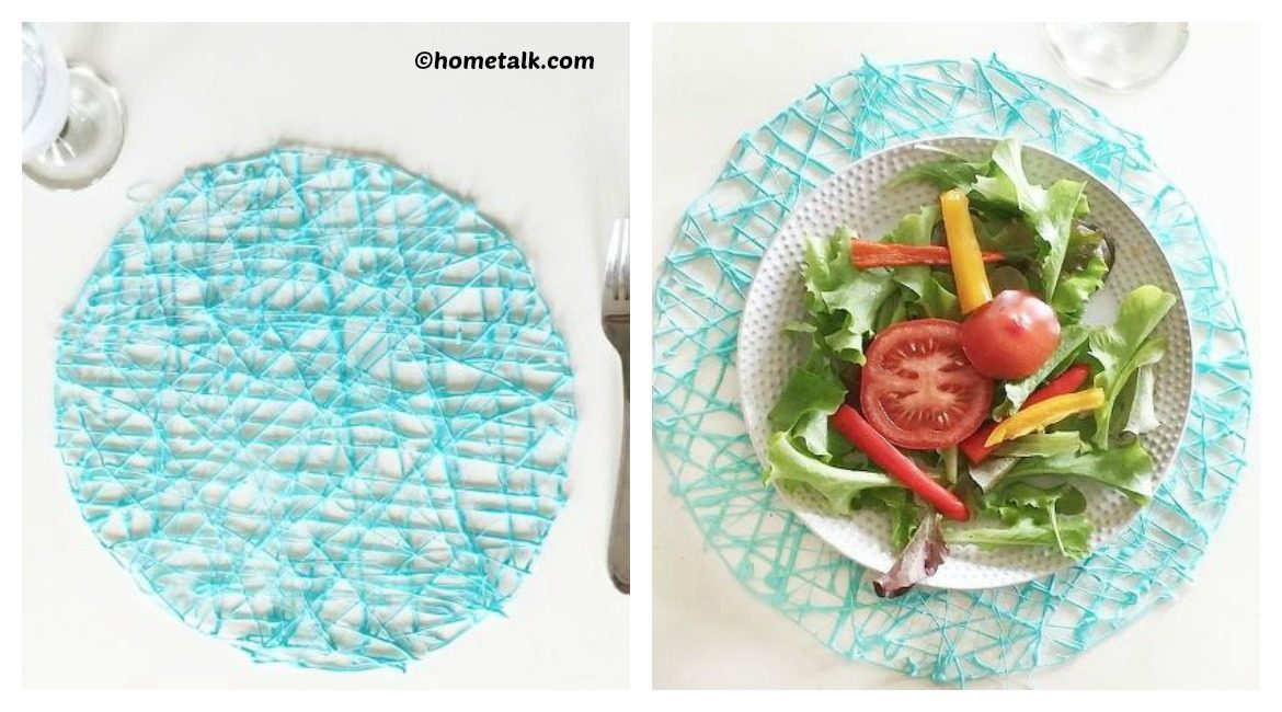 DIY Hot Glue Place-mats Tutorial