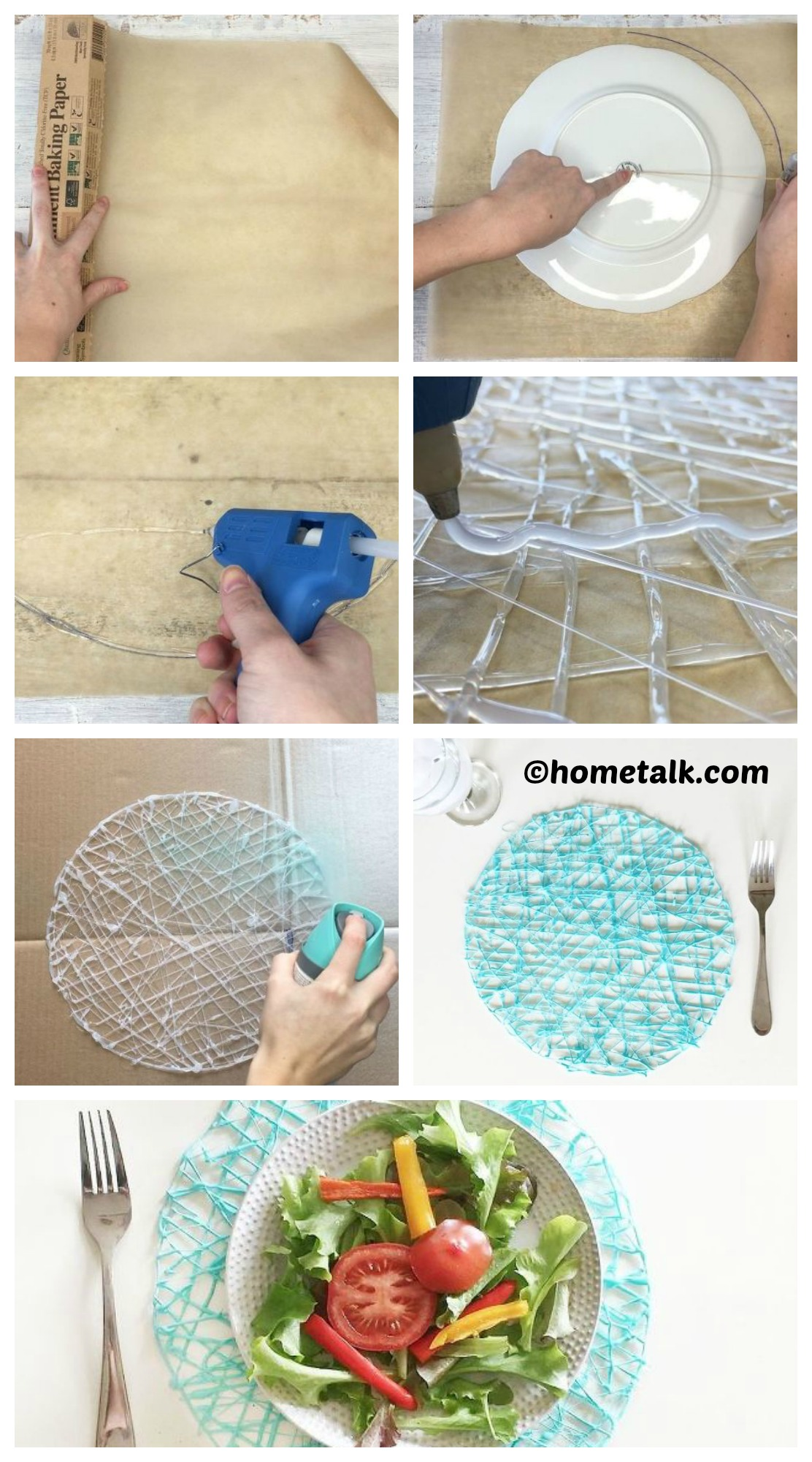 How to make Hot Glue Place-mats