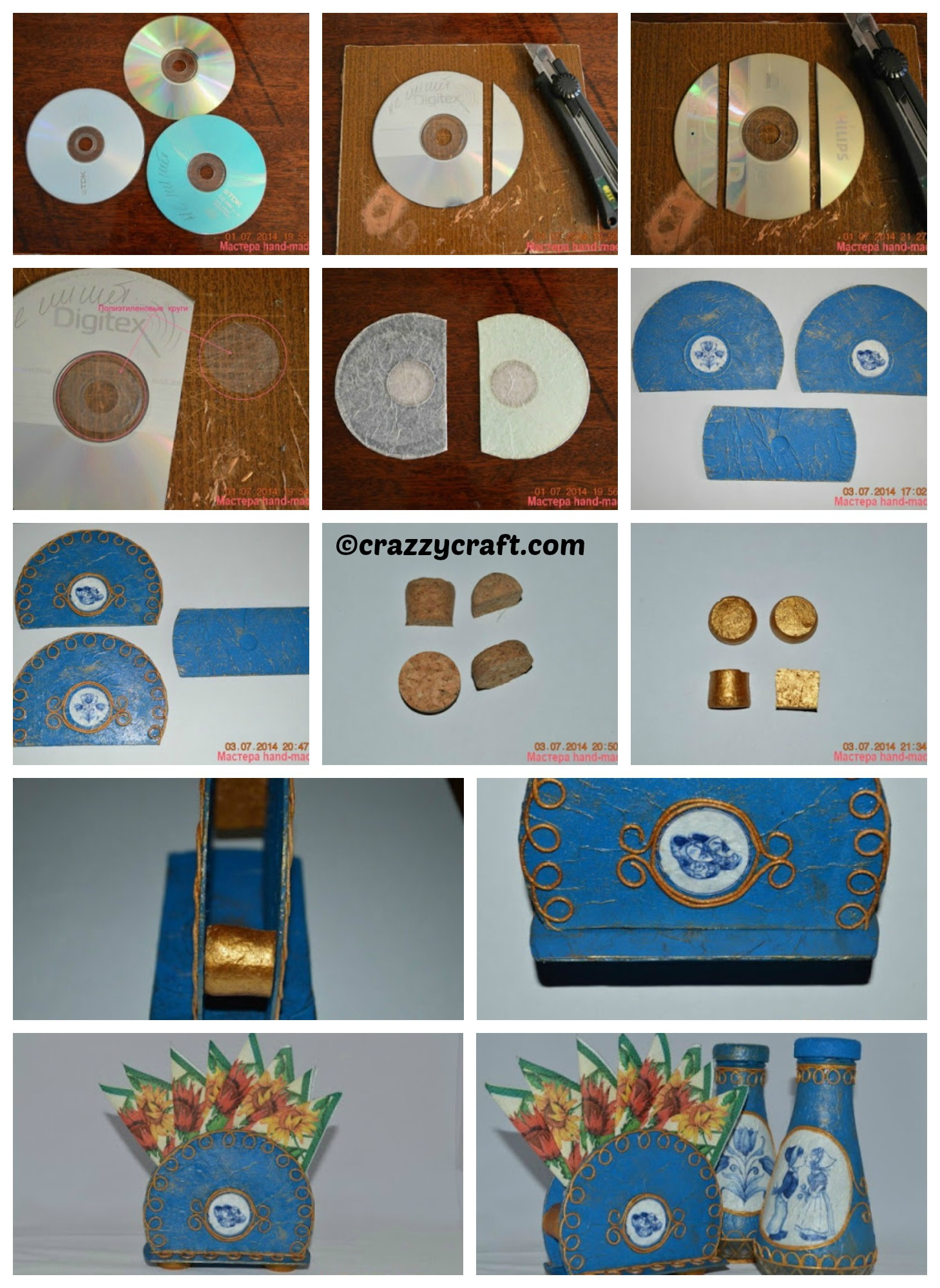 How to make a Tissue Holder from CD