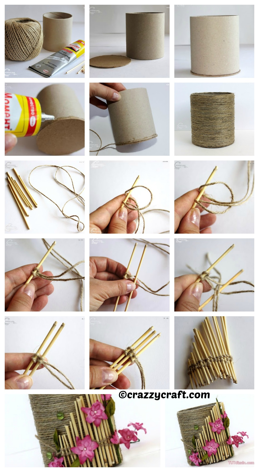 How to make a Yarn Pencil Holder