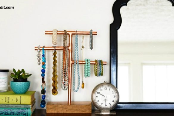 DIY Copper Pipe Jewelry Stand Tutorial