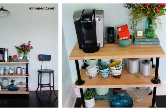 DIY Industrial Pipe Coffee Cart Tutorial