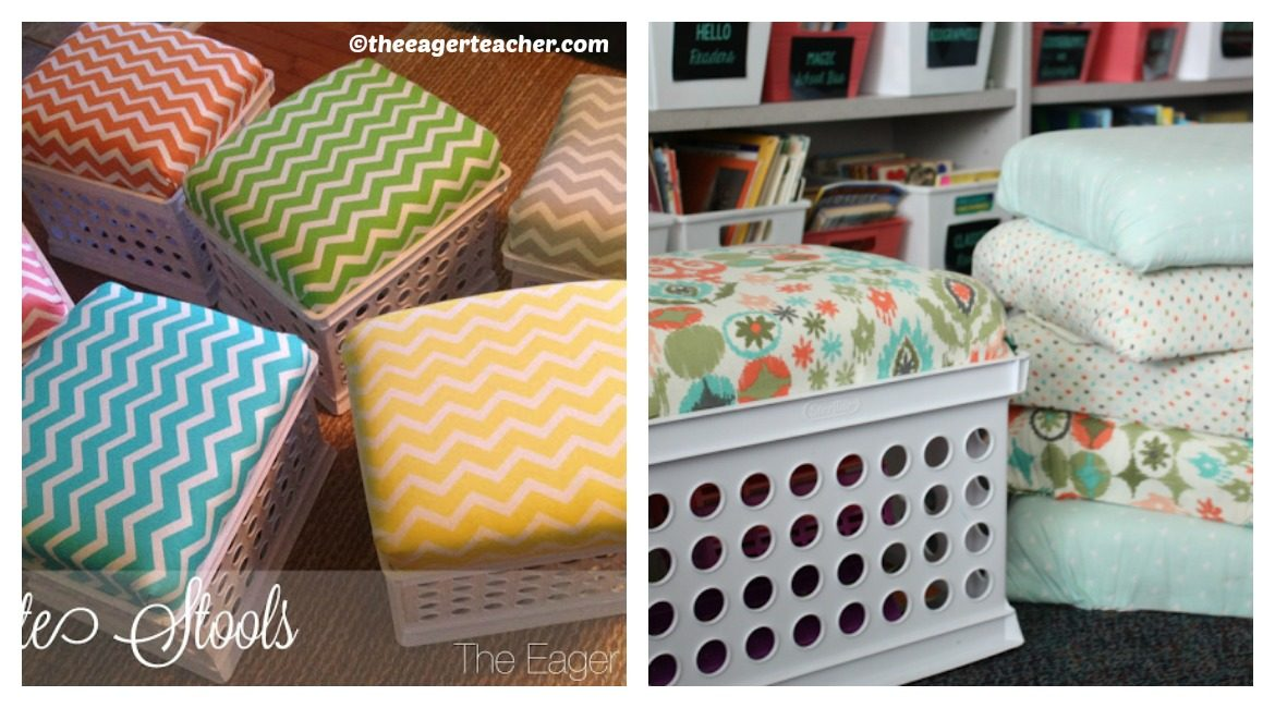 DIY Storage Crate Stools Tutorial