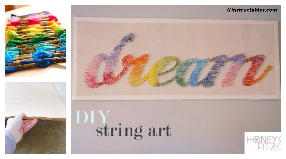 DIY String Wall Art Tutorial