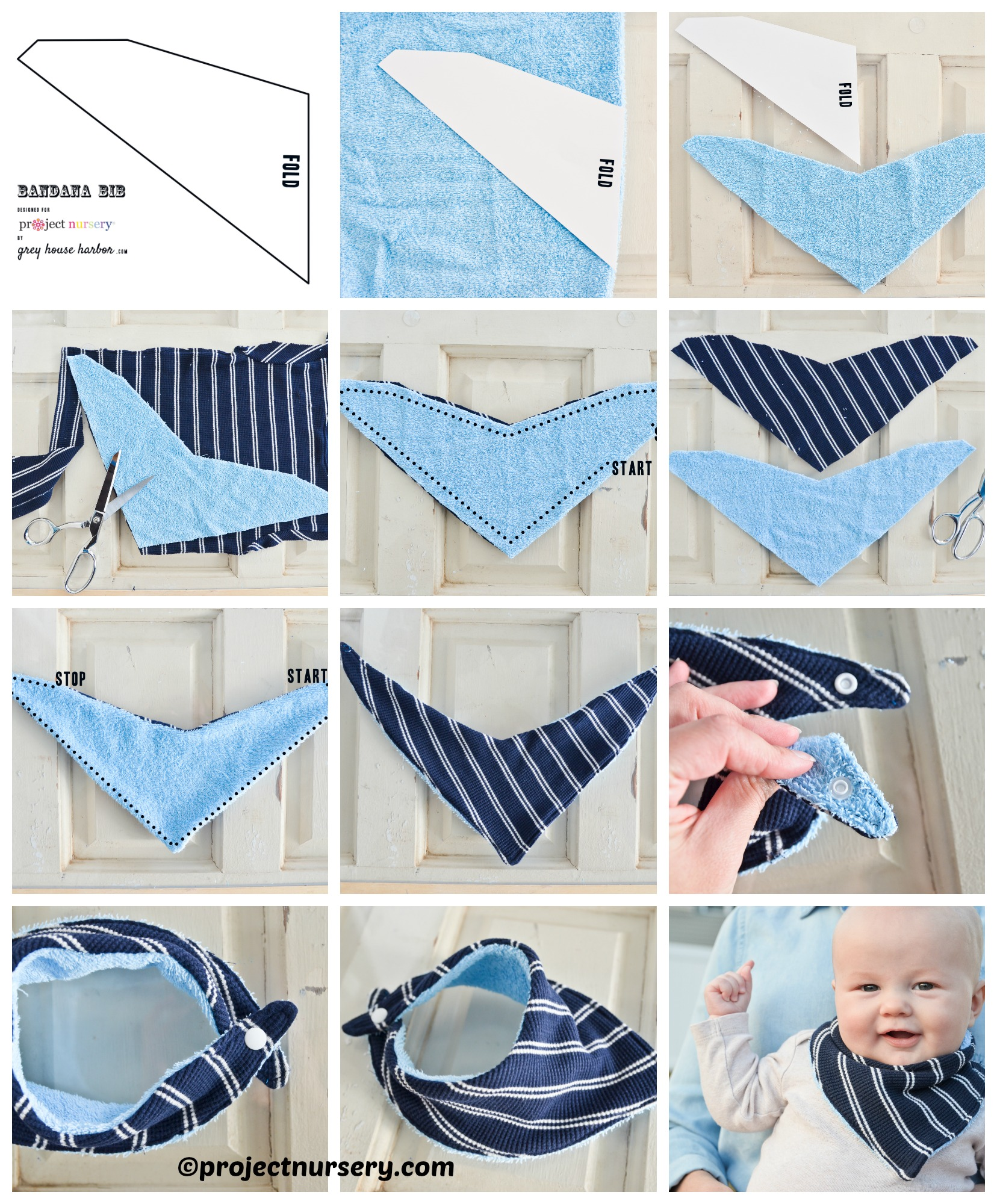 How to make a Bandanna Bib