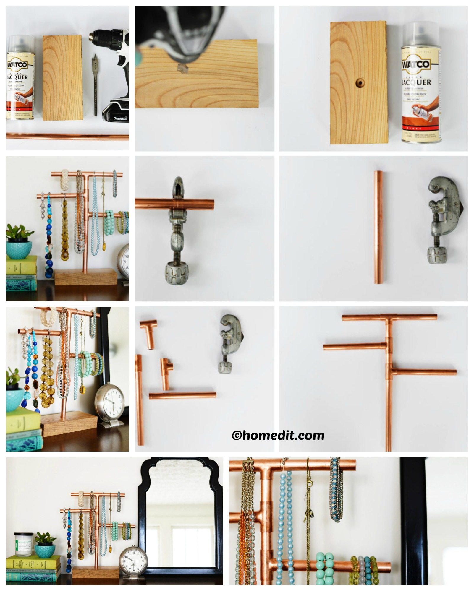 How to make a Copper Pipe Jewelry Stand