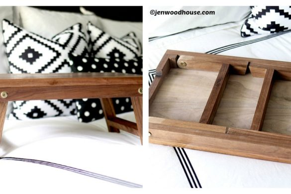 DIY Folding Lap Bed Table Tutorial