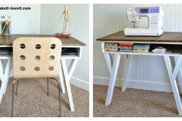 DIY Modern Desk Storage Cubby Tutorial