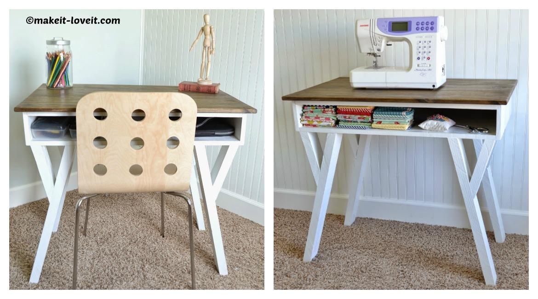 DIY Modern Desk Storage Cubby Tutorial