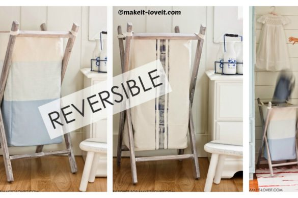 DIY Reversible Bag Wood Hamper Tutorial