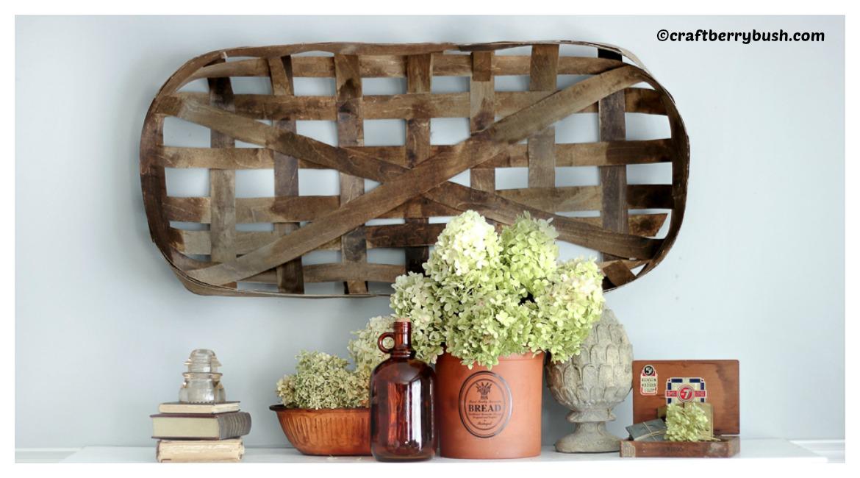Handmade Baskets Tutorial : Tobacco basket diy tutorial handmade home tutorials