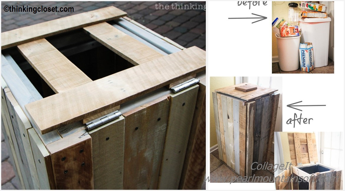 DIY Pallet Rustic Recycle Bin Tutorial