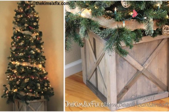 DIY Scrap Wood Crate Christmas Tree Stand Tutorial