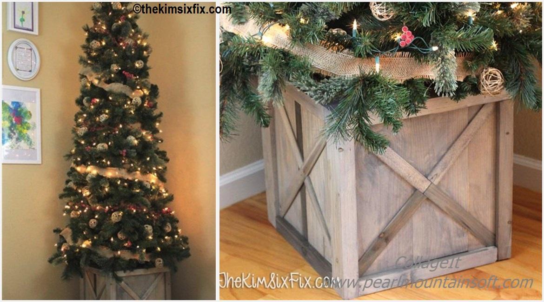 Scrap Wood Crate Christmas Tree Stand Diy Home Tutorials