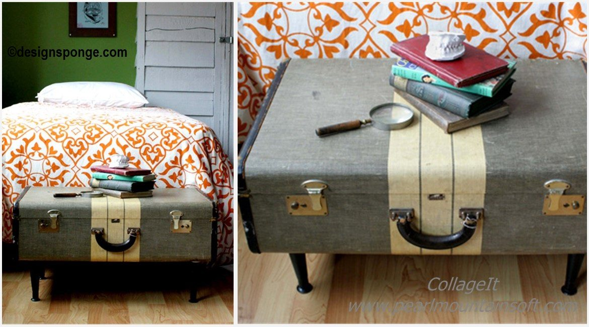 DIY Vintage Suitcase Coffee Table Tutorial