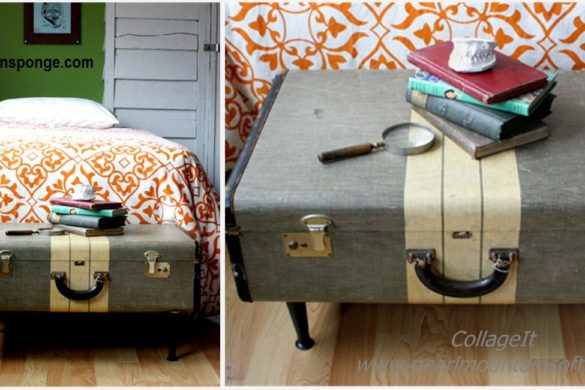 DIY Vintage Suitcase Coffee Table Tutorial