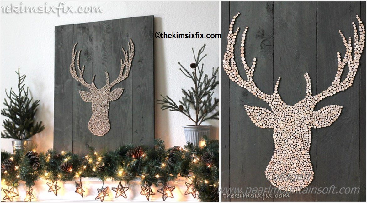 DIY Wood Deer Hear Silhouette Tutorial