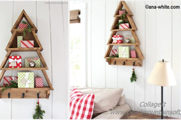DIY Christmas Tree Wall Shelf Tutorial