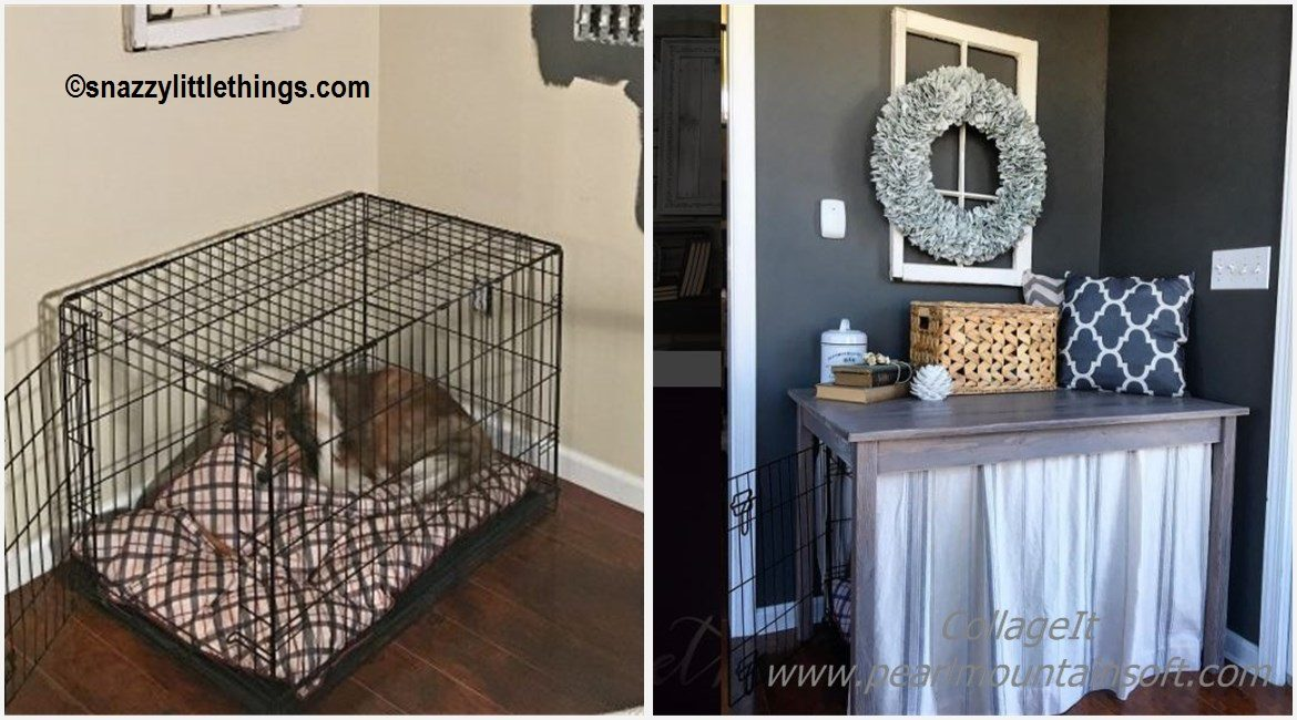 DIY Dog Cage Cover Up Tutorial
