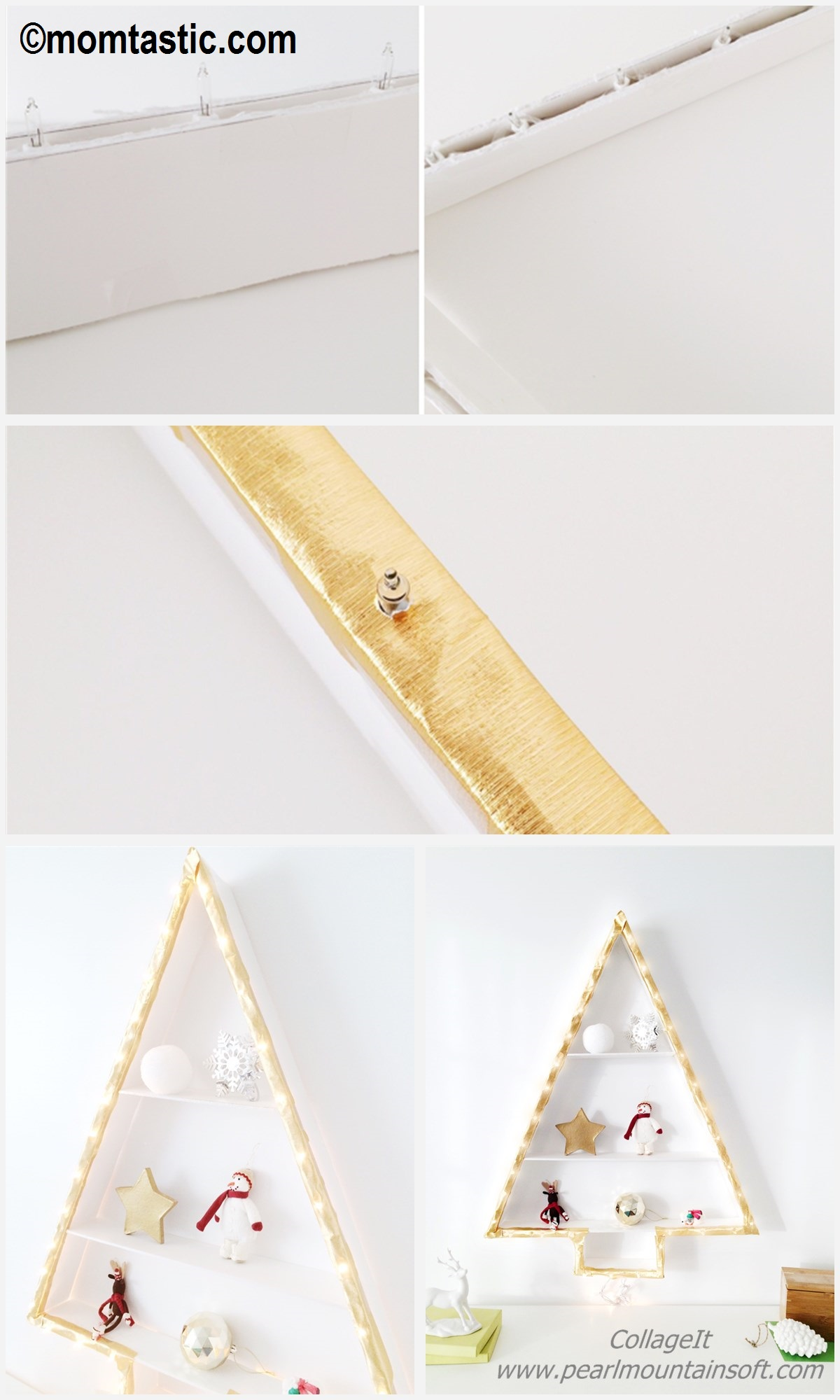 How to make a Christmas Tree Shelf Lights