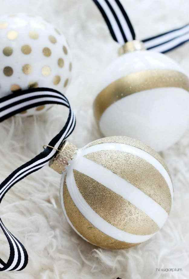 Kate Spade-Inspired DIY Christmas Ornaments