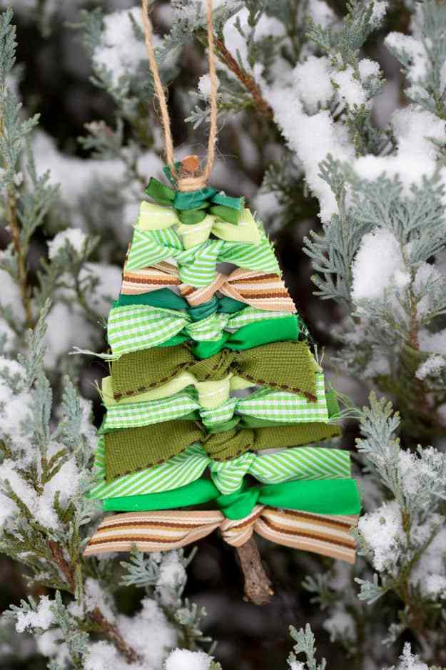 Scrap Ribbon Tree DIY Ornament