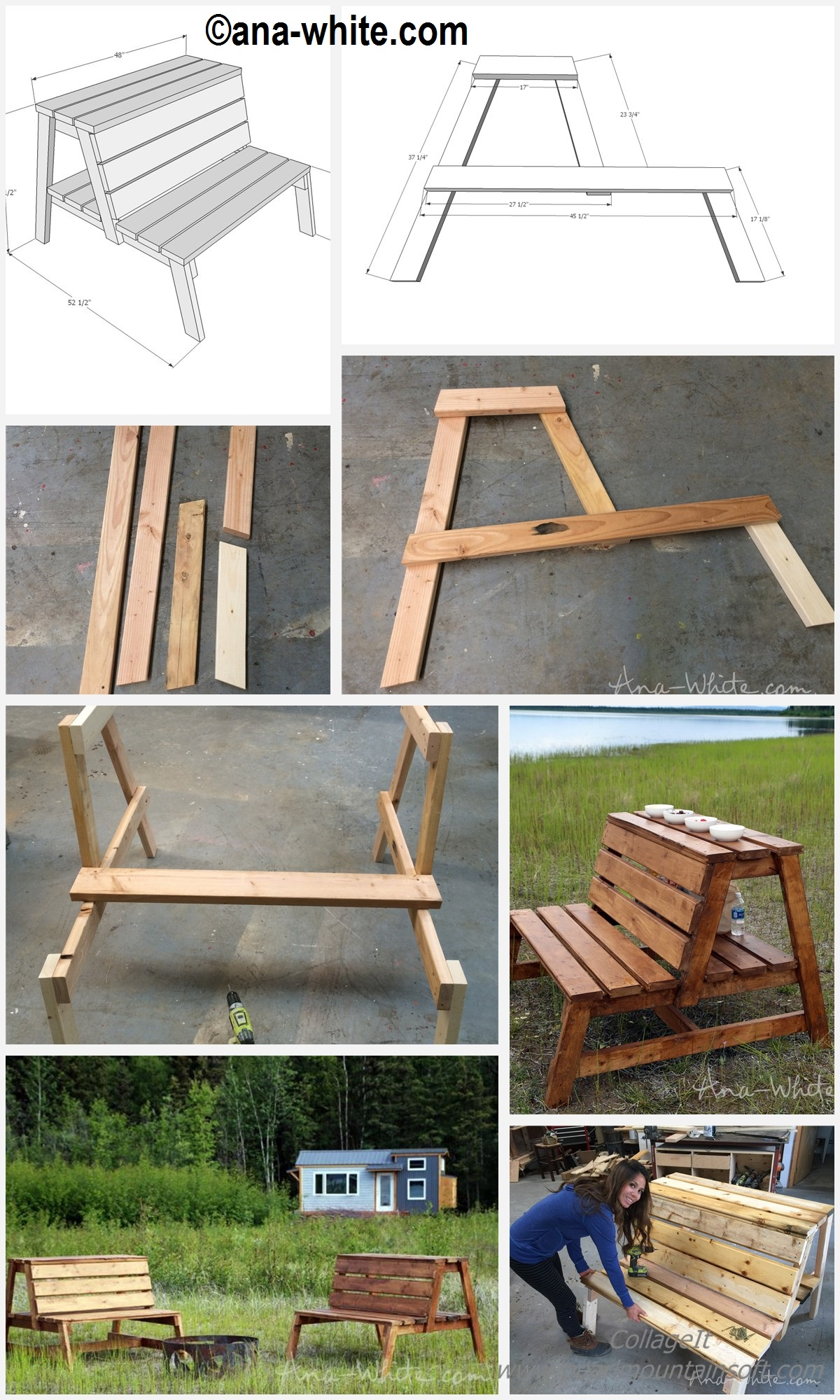 How to make Fire-pit Benches Table Storage