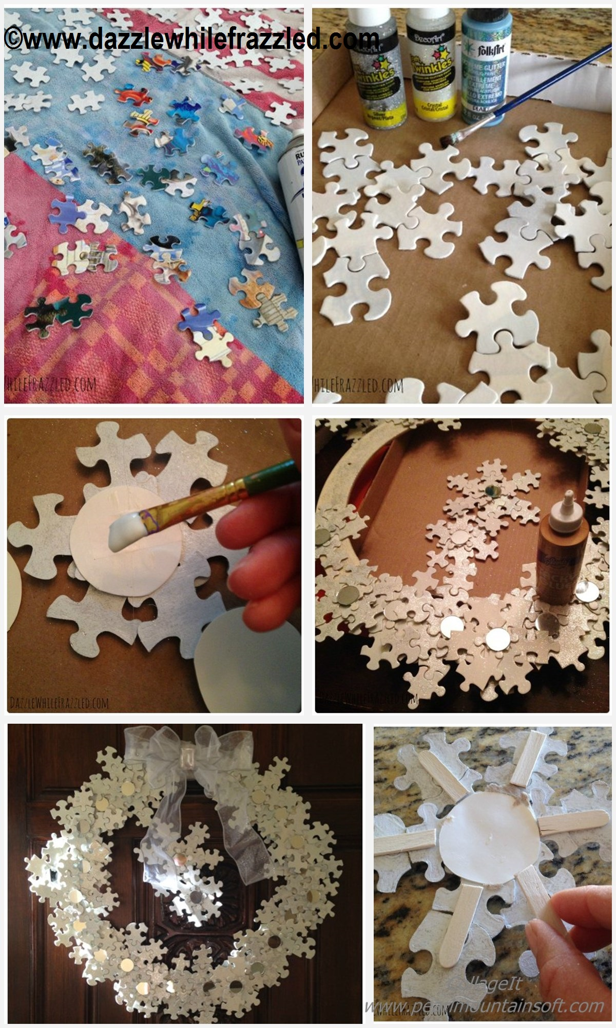 How to make a Puzzle Winter Wreath