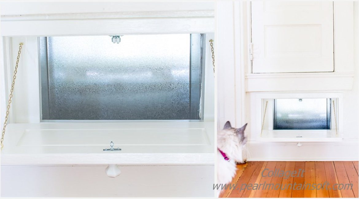 DIY Vintage Laundry Chute Tutorial