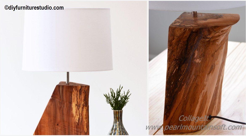 DIY Natural Wood Table Lamp Tutorial