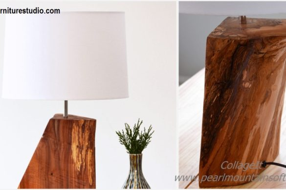 DIY Natural Wood Table Lamp Tutorial