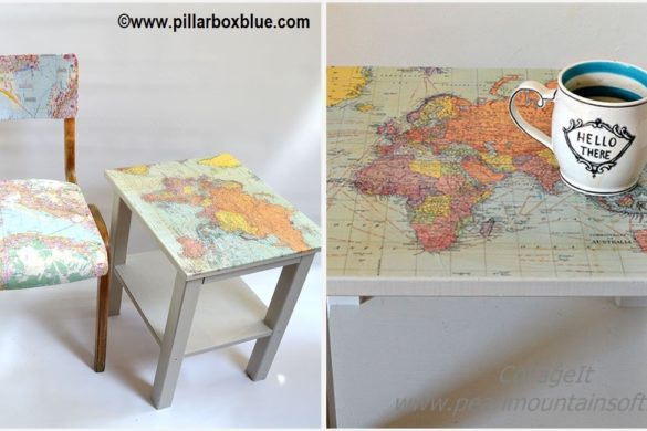 DIY Map Table and Chairs Ikea Tutorial