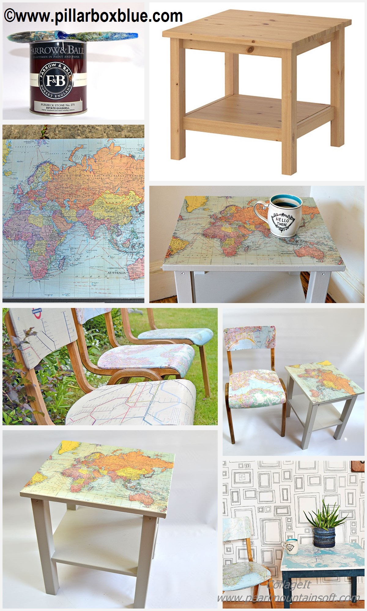 How to make Map Table and Chairs Ikea
