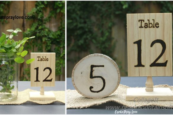 DIY Rustic Wood Wedding Table Numbers