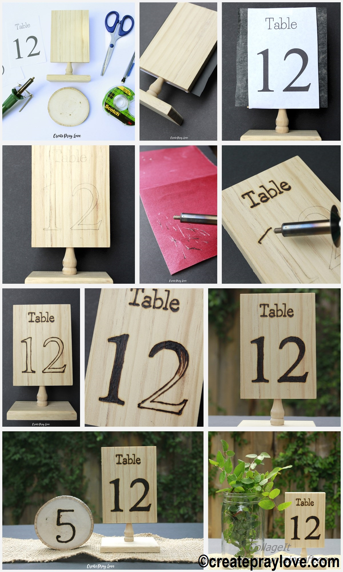 How to make Rustic Wood Wedding Table Numbers