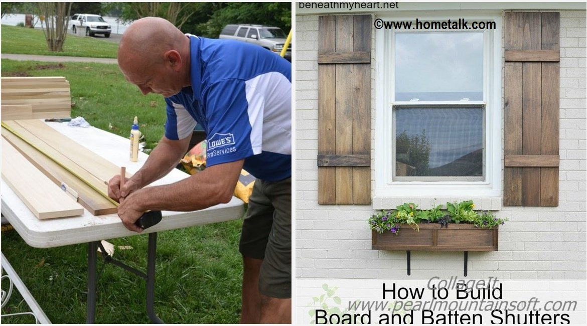 DIY Board and Batten Shutters Tutorial