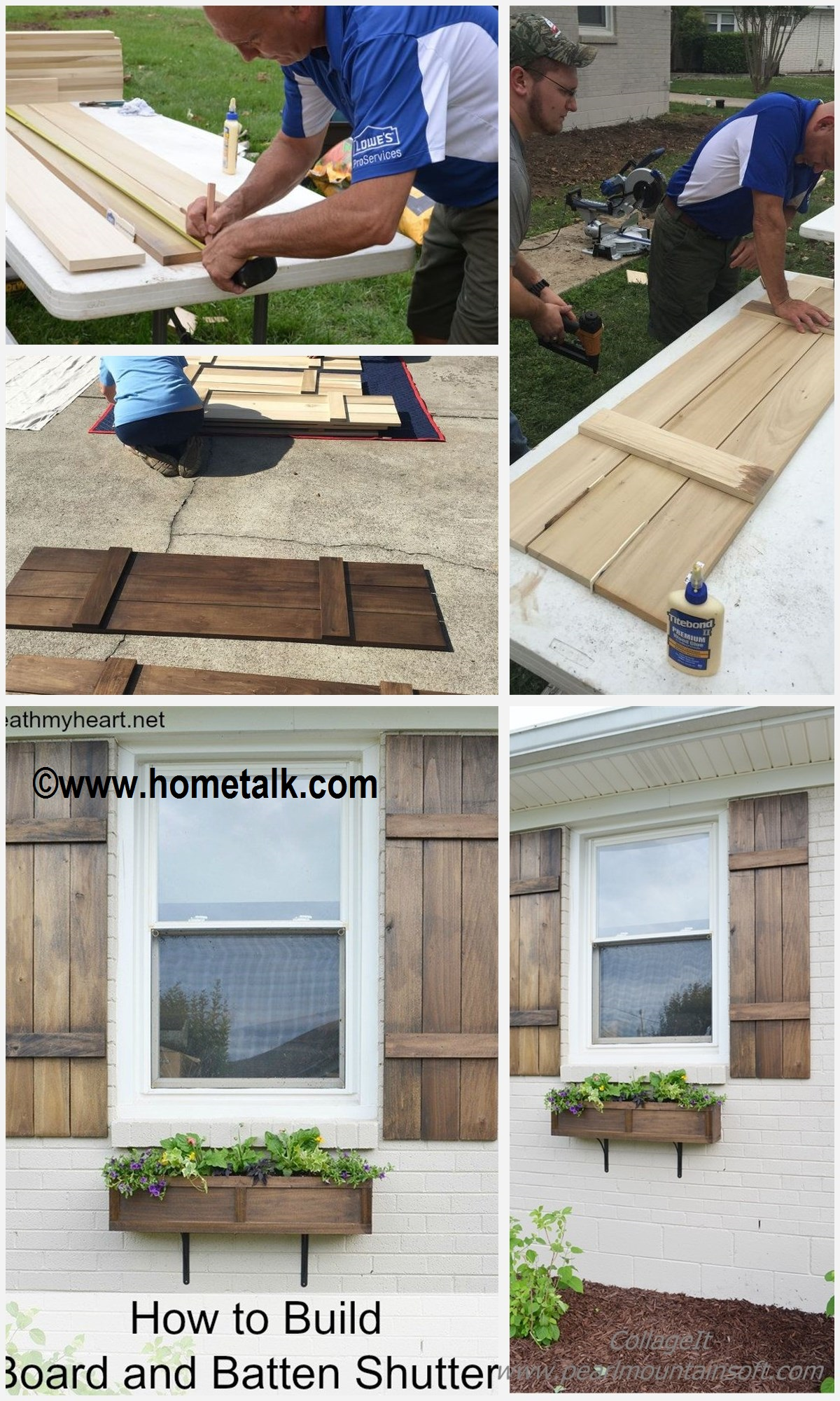 How to make Board and Butten Shutters