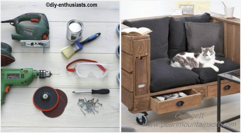 DIY Pallet Sofa Storage Tutorial