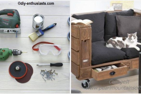DIY Pallet Sofa Storage Tutorial