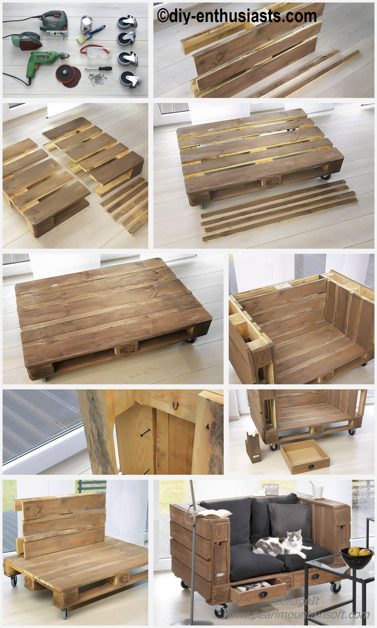 How to make a Pallet Sofa Storage